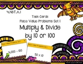 Place Value Problems Set 1 - Multiply & Divide by 10 or 100 {Math Task Cards}