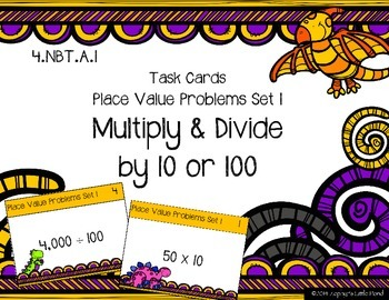 Place Value Problems Set 1 - Multiply & Divide by 10 or 10