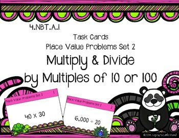 Place Value Problems Set 2 -  Multiples of 10 or 100 {Math