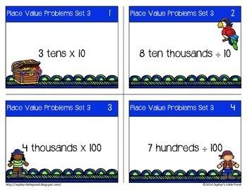 Place Value Problems Set 3 - Multiply & Divide Using Unit Form {Math Task Cards}