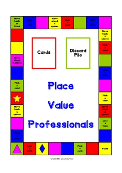 Place Value Professional Board Game (whole numbers)