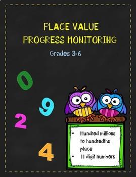 Place Value Progress Monitoring
