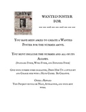 Place Value Project Wanted Poster
