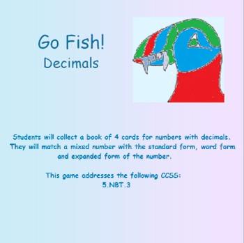 Place Value Puffins: Go Fish!  Decimals