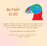 Place Value Puffins: Go Fish!  Number Sense for 11 - 20