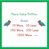 Place Value Puffins: Scoot!  10 More 10 Less