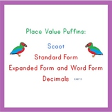 Place Value Puffins: Scoot! Decimals