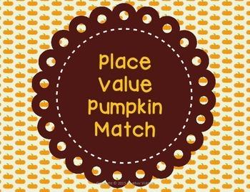 Place Value Pumpkin Match