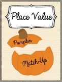 Place Value Pumpkin Match-Up