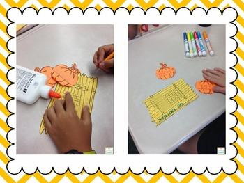 Place Value Pumpkin Patch Craftivity: Hundreds, Tens, Ones
