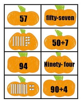 Place Value Pumpkin Patch Match