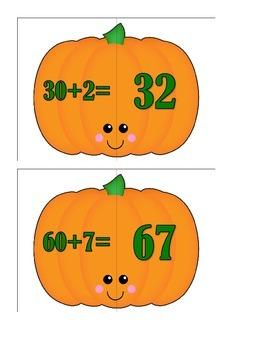 Place Value Pumpkin Puzzles