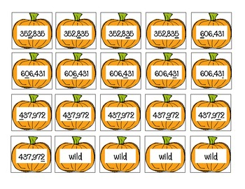 Place Value Pumpkins - Differentiated