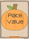 Place Value Pumpkins Math Station Activity