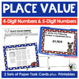 Place Value Task Cards (Scoot Game) and Printables-