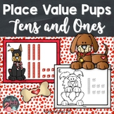 Place Value Pups Tens and Ones Valentine's Day Activity