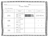 Place Value Pups Worksheet