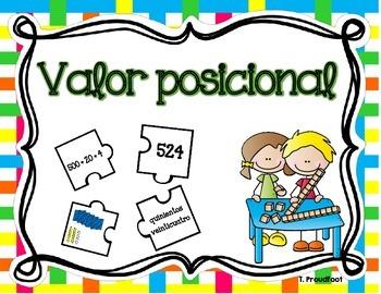 Place Value Puzzle - 3 digit (Spanish)