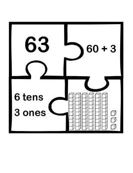 Place Value Puzzle Activity- Common Core Aligned