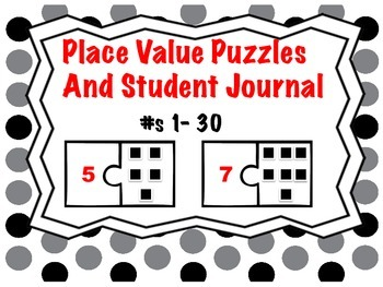 Math Center Place Value Puzzle and Math Journal