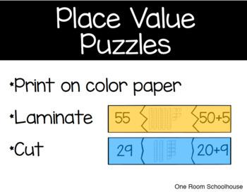 Place Value Puzzle Cards