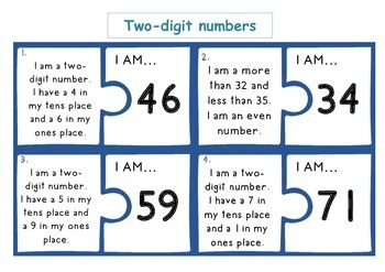 Place Value Puzzle Cards - word problems for problem solving place value!