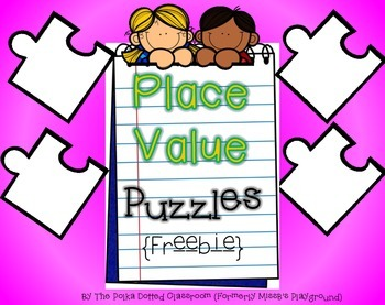 Place Value Puzzle {{Freebies}}