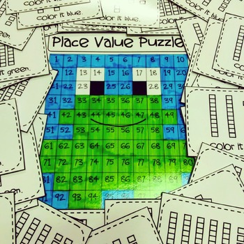Place Value Puzzle Frog
