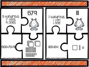 Place Value Puzzle Monsters