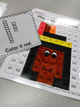 Place Value Puzzle Native American Girl