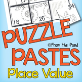Place Value Puzzle Pastes - Cut & Paste Worksheets - Numbers to 50