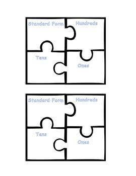 Place Value Puzzle Piece Game