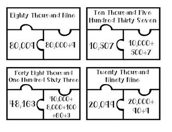 Place Value Puzzle Pieces