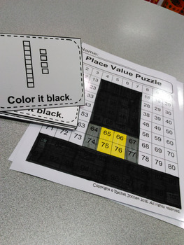 Place Value Puzzle Pilgrim Hat