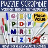 Place Value - Puzzle Scramble - Word Form Decimals Through Thousandths