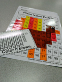 Place Value Puzzle Turkey