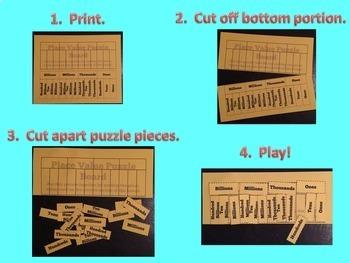 Place Value Puzzle - Whole Number Place Value