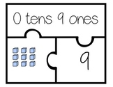 Place Value Puzzle (numbers 1-30) 3 piece set