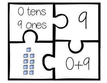 Place Value Puzzle (numbers 1-30) 4 piece set