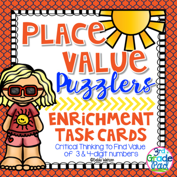 Place Value Puzzler Task Cards