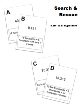 Place Value Puzzlers Search and Rescue