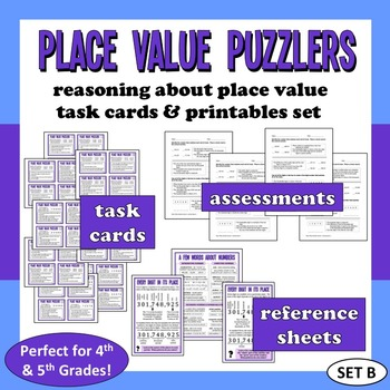 Place Value Puzzlers - reasoning about place value task ca
