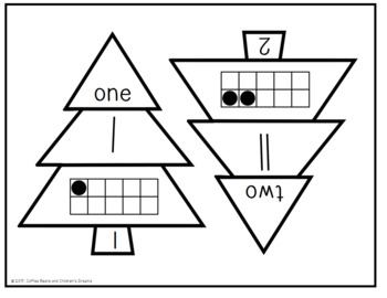 Place Value Puzzles:1-20 Christmas Tree
