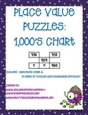 Place Value Puzzles: 1000's Chart