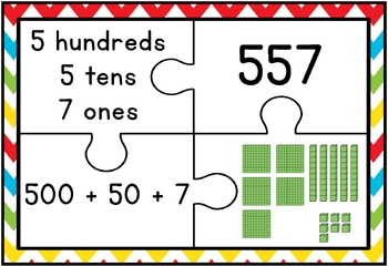Place Value Puzzles 101 - 999