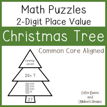 Place Value Puzzles: 2-digit Christmas Tree