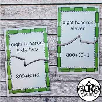 Place Value Puzzles 3 Digit Expanded & Word Form