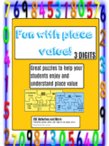 Place Value Puzzles - 3 digits