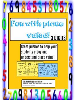 Place Value Puzzles - 3 digits