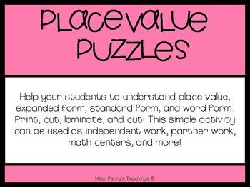Place Value Puzzles